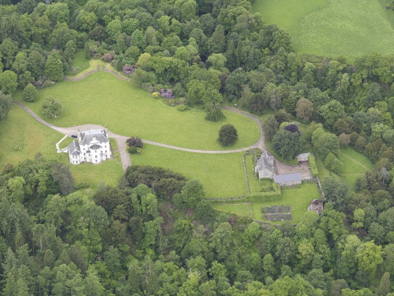 Oblique aerial view of Invermay House, taken from the ENE.
