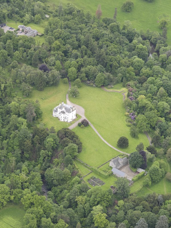 Oblique aerial view of Invermay House, taken from the NE.