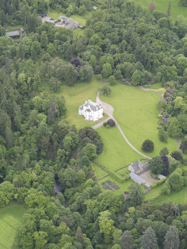 Oblique aerial view of Invermay House, taken from the NNE.