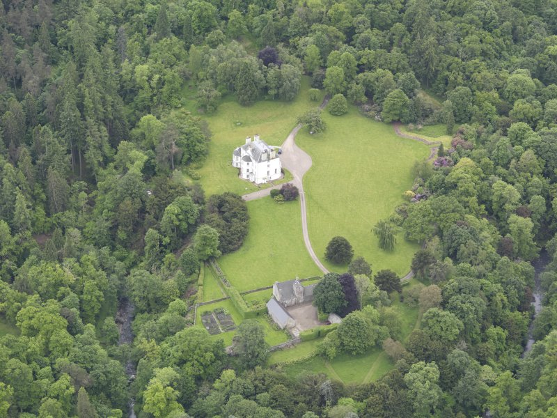 Oblique aerial view of Invermay House, taken from the N.