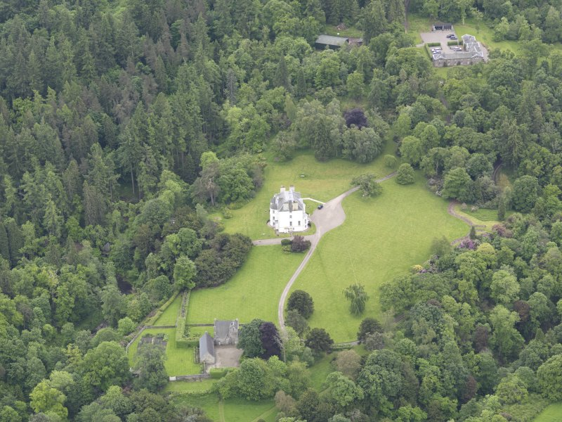 Oblique aerial view of Invermay House, taken from the NNW.