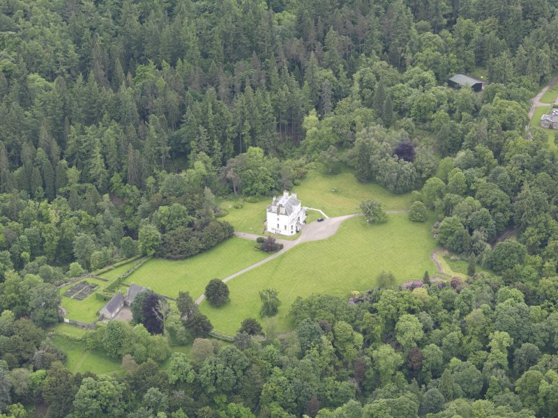Oblique aerial view of Invermay House, taken from the NW.