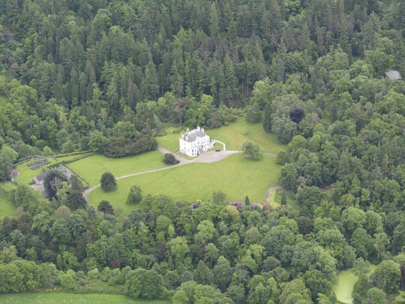 Oblique aerial view of Invermay House, taken from the WNW.