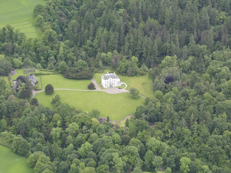 Oblique aerial view of Invermay House, taken from the W.