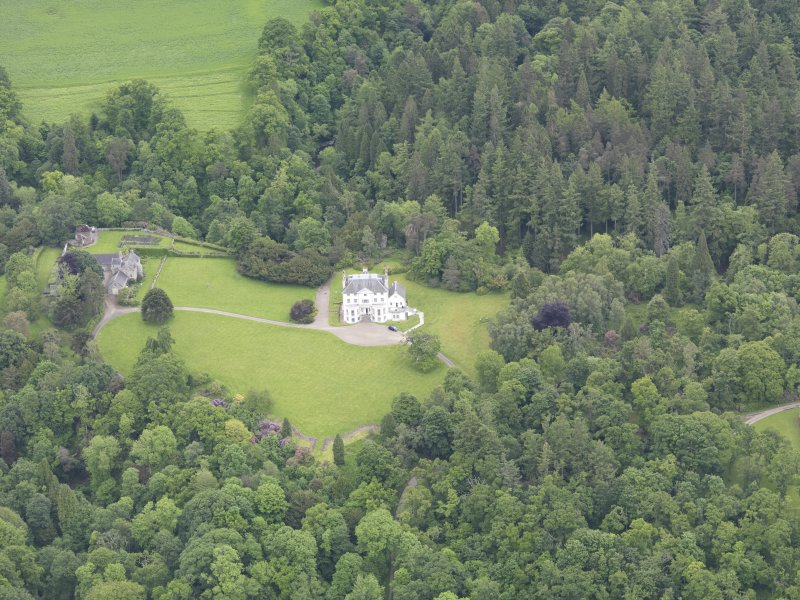 Oblique aerial view of Invermay House, taken from the WSW.