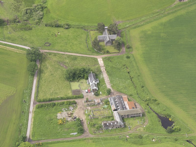 Oblique aerial view of Tullibardine Chapel, taken from the E.