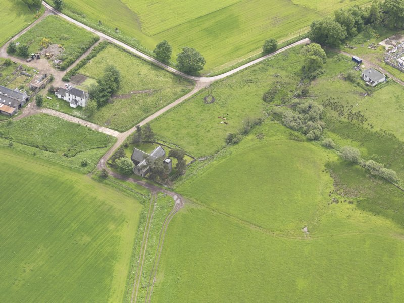 Oblique aerial view of Tullibardine Chapel, taken from the NW.