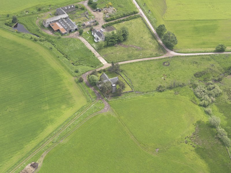 Oblique aerial view of Tullibardine Chapel, taken from the WNW.