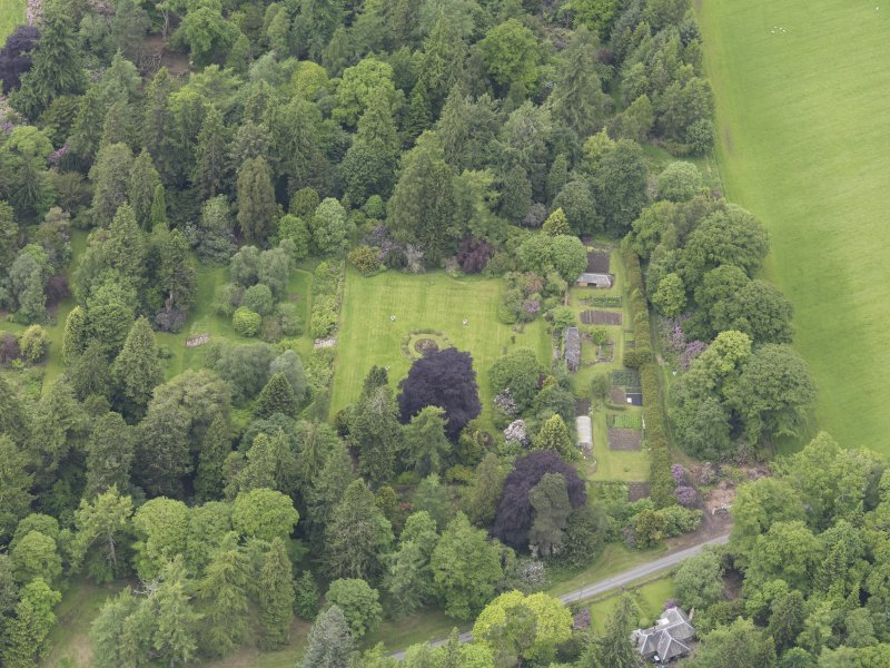 Oblique aerial view of Abercairny House, taken from the E.