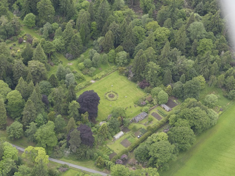 Oblique aerial view of Abercairny House, taken from the NE.