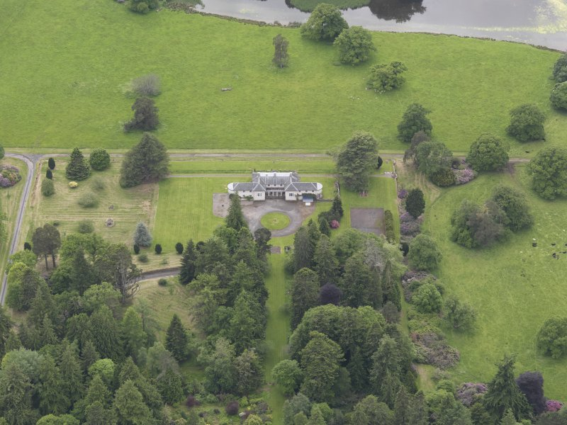 Oblique aerial view of Abercairny House, taken from the NNE.