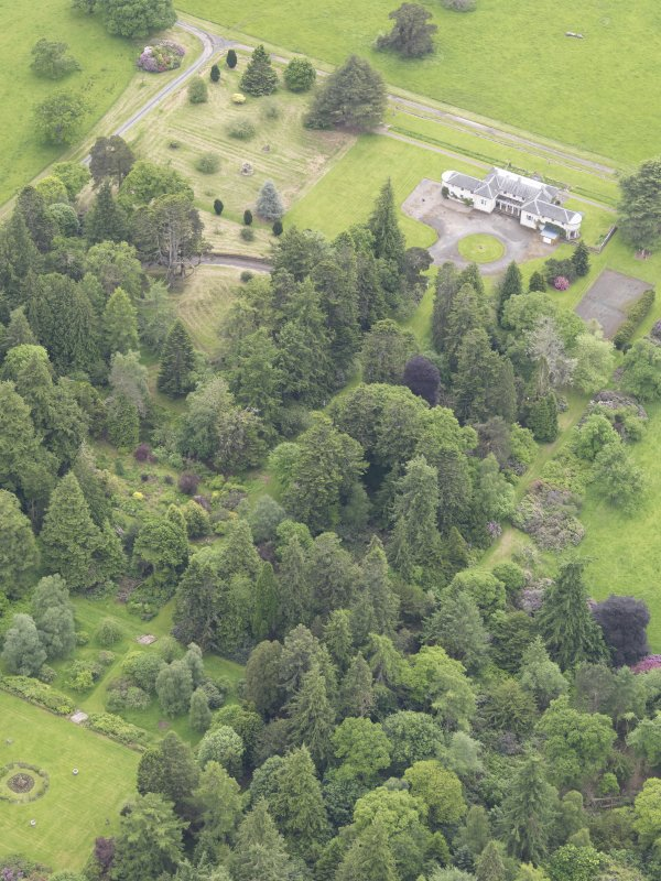 Oblique aerial view of Abercairny House, taken from the NW.