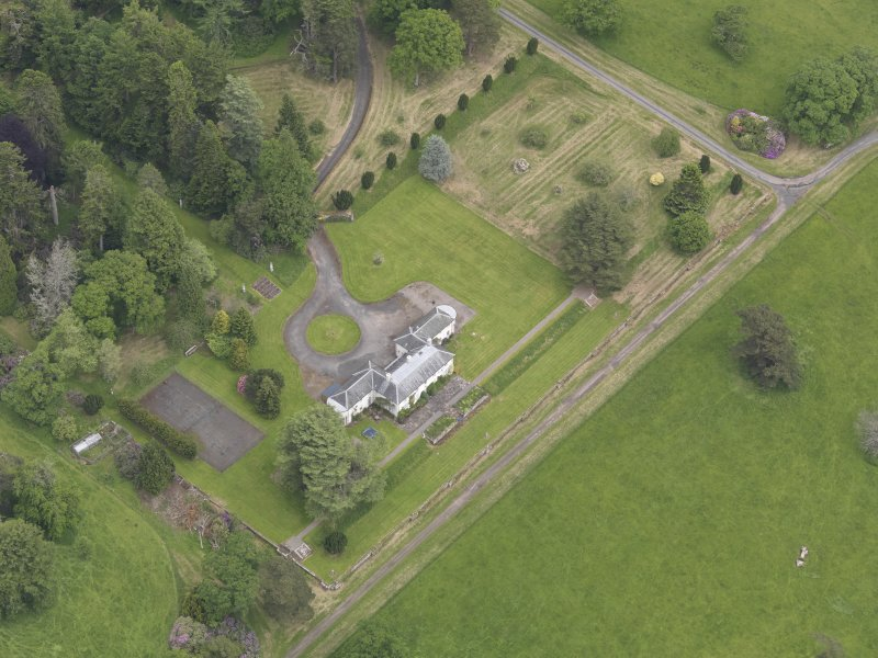 Oblique aerial view of Abercairny House, taken from the SW.