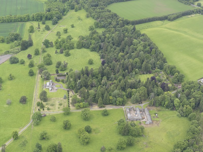 General oblique aerial view of Abercairny House, taken from the E.