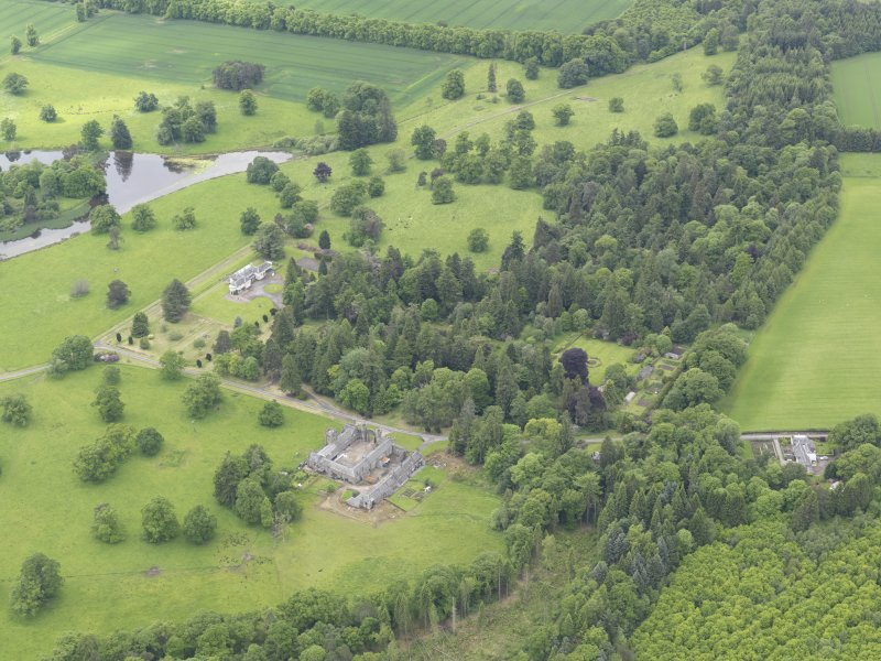 General oblique aerial view of Abercairny House, taken from the NE.