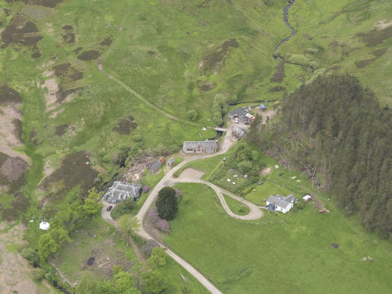 Oblique aerial view of Connachan Lodge, taken from the SE.