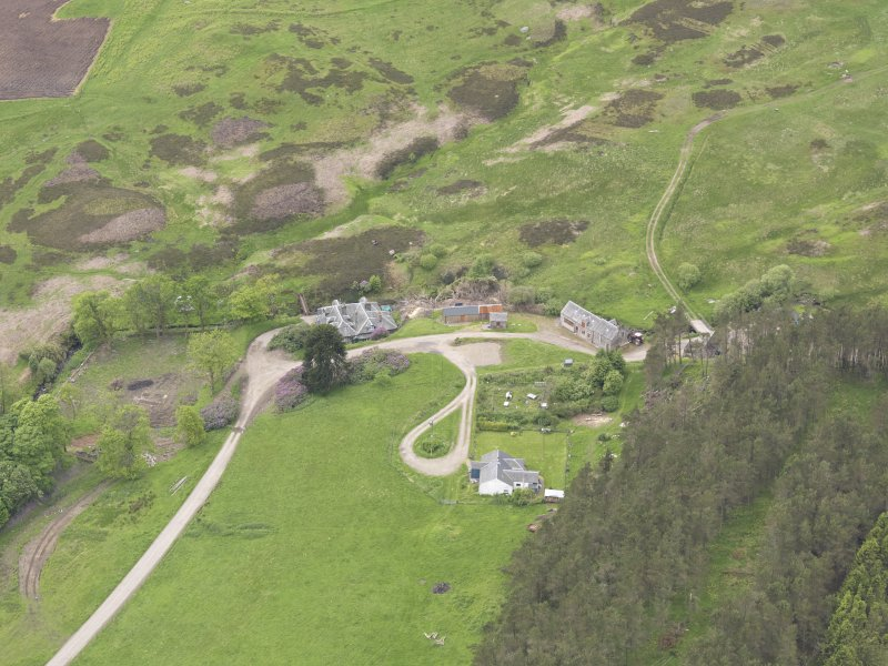 Oblique aerial view of Connachan Lodge, taken from the NE.