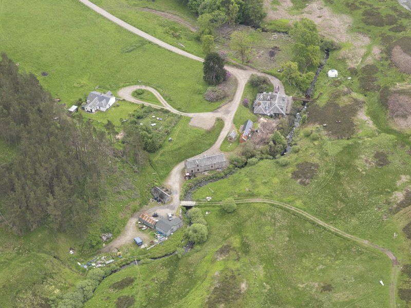 Oblique aerial view of Connachan Lodge, taken from the NNW.