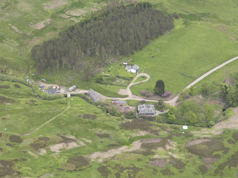 Oblique aerial view of Connachan Lodge, taken from the WSW.