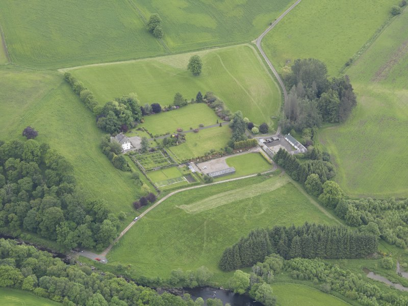 Oblique aerial view of Lochlane House, taken from the WNW.