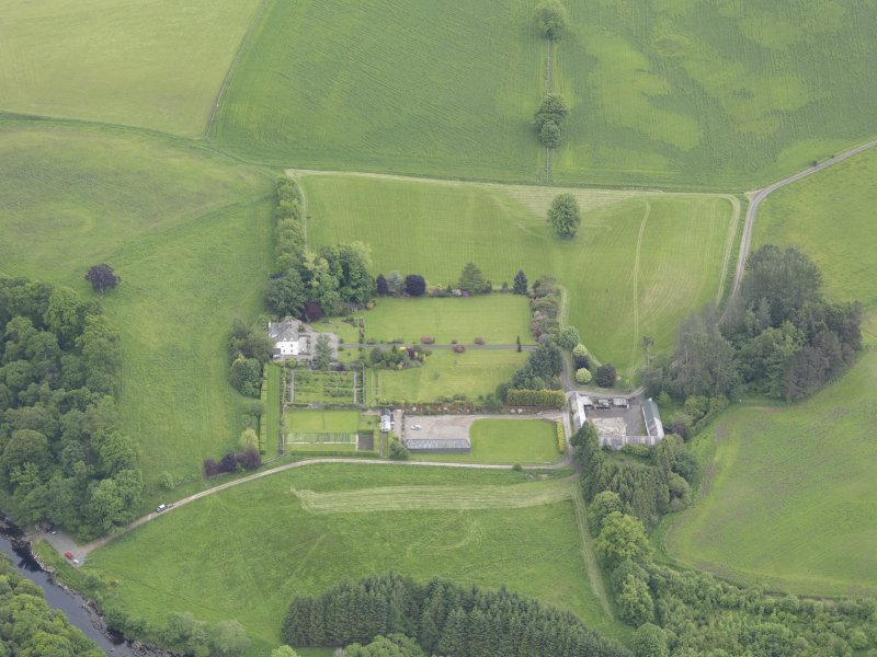 Oblique aerial view of Lochlane House, taken from the W.