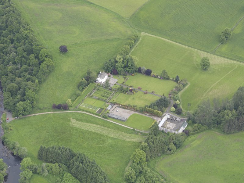 Oblique aerial view of Lochlane House, taken from the SW.