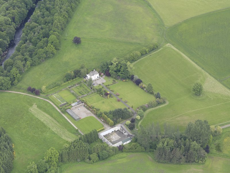 Oblique aerial view of Lochlane House, taken from the SSW.