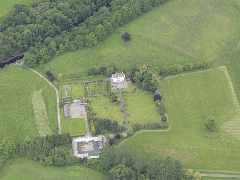 Oblique aerial view of Lochlane House, taken from the S.