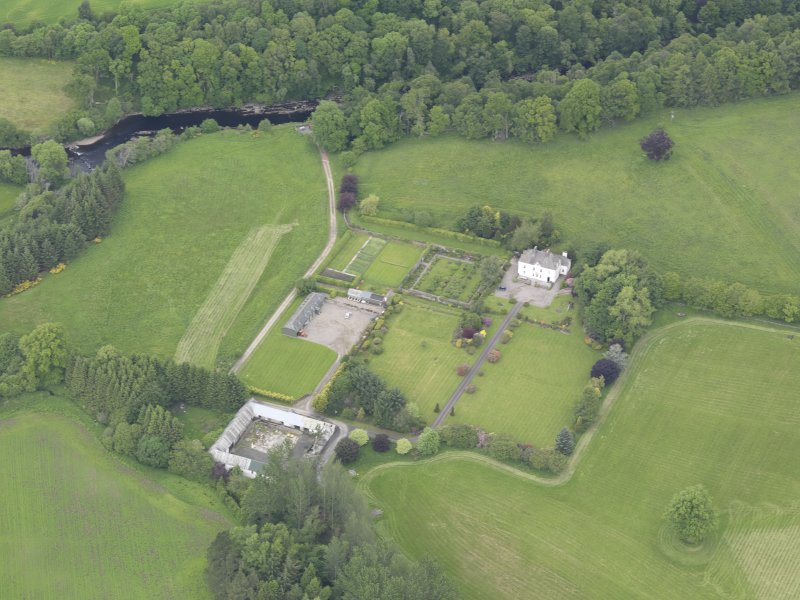 Oblique aerial view of Lochlane House, taken from the SSE.