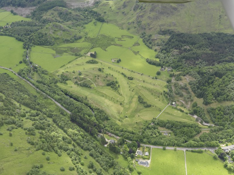 Oblique aerial view of St Fillan's Golf Course, taken from the NNE.