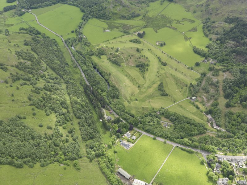 Oblique aerial view of St Fillan's Golf Course, taken from the NW.