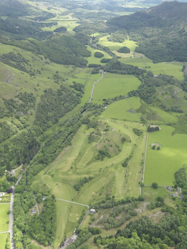 Oblique aerial view of St Fillan's Golf Course, taken from theWNW.