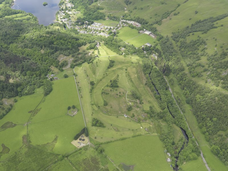 Oblique aerial view of St Fillan's Golf Course, taken from the SSE.