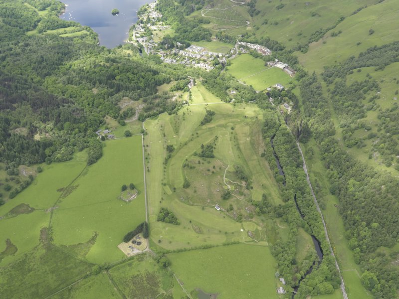 Oblique aerial view of St Fillan's Golf Course, taken from the E.