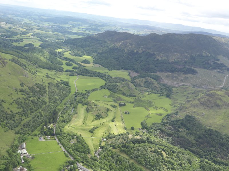 General oblique aerial view of St Fillan's Golf Course, taken from the W.