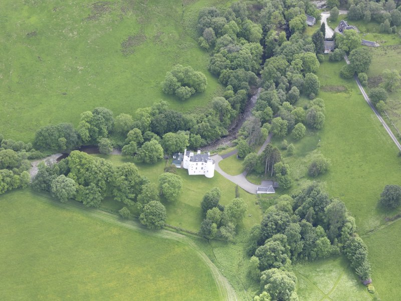 Oblique aerial view of Edinample Castle, taken from the N.