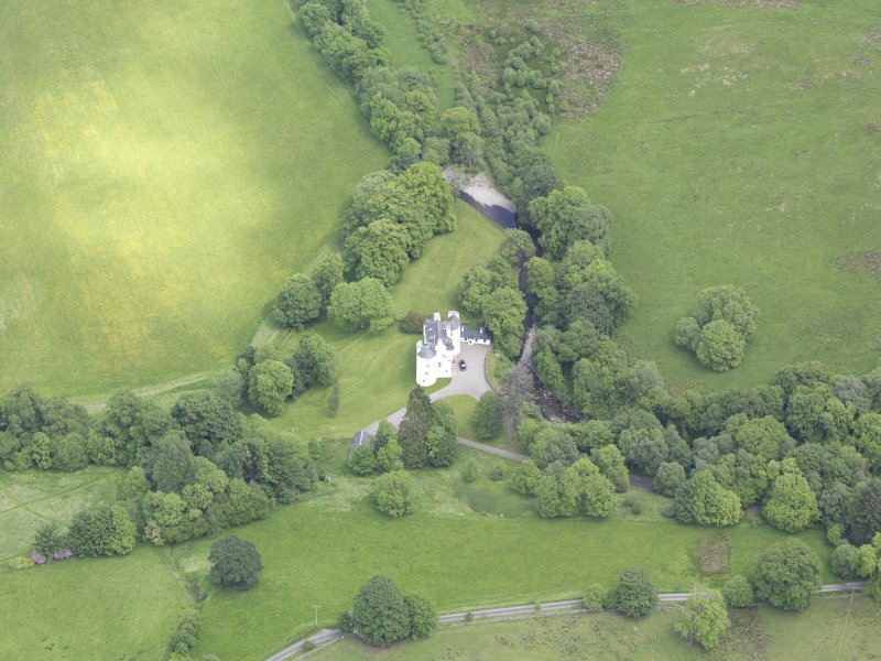 Oblique aerial view of Edinample Castle, taken from the W.
