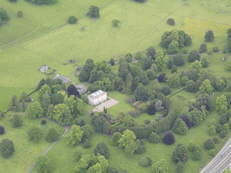 Oblique aerial view of Inchyra House, taken from the S.