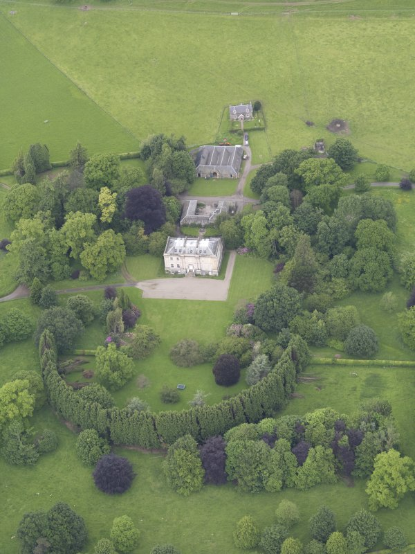 Oblique aerial view of Inchyra House, taken from the SSE.