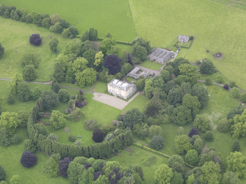 Oblique aerial view of Inchyra House, taken from the SE.