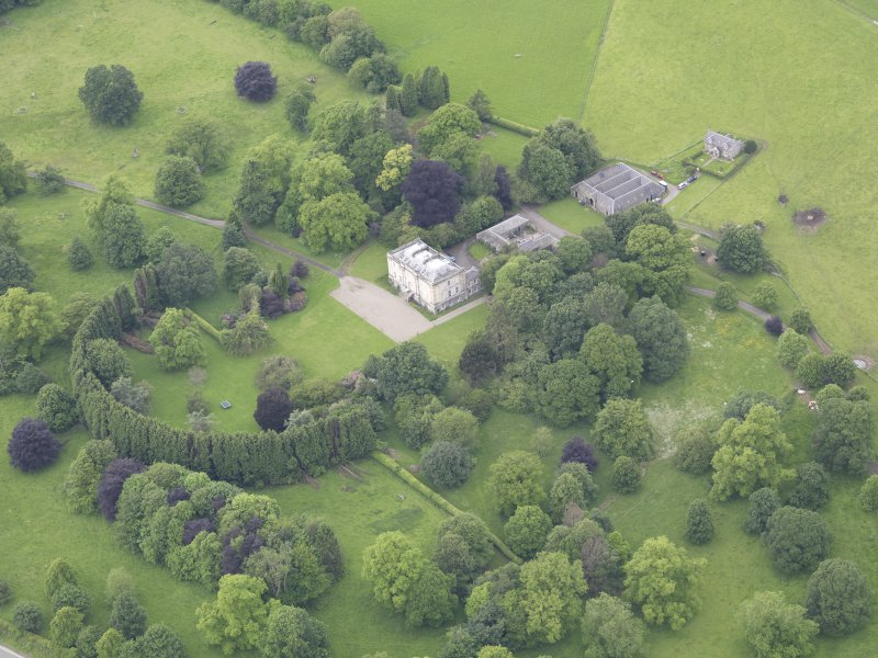 Oblique aerial view of Inchyra House, taken from the ESE.
