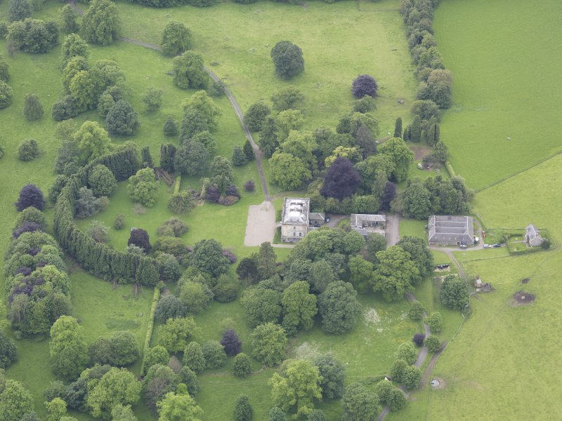 Oblique aerial view of Inchyra House, taken from the E.