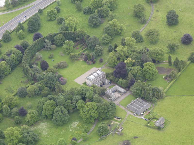 Oblique aerial view of Inchyra House, taken from the NE.