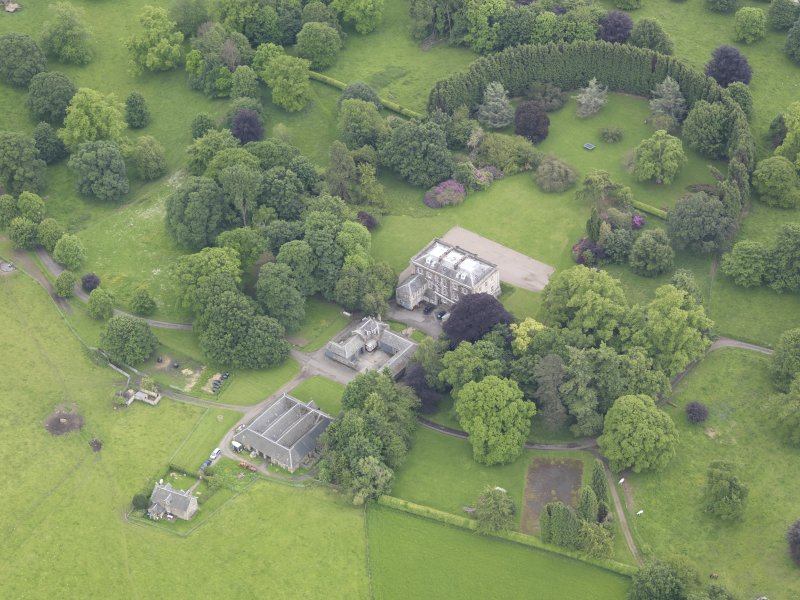 Oblique aerial view of Inchyra House, taken from the NW.