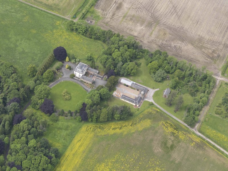 Oblique aerial view of Inchmartine House, taken from the SE.