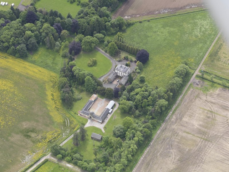 Oblique aerial view of Inchmartine House, taken from the NE.