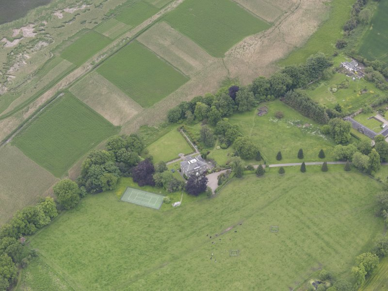 Oblique aerial view of Seaside House, taken from the N.