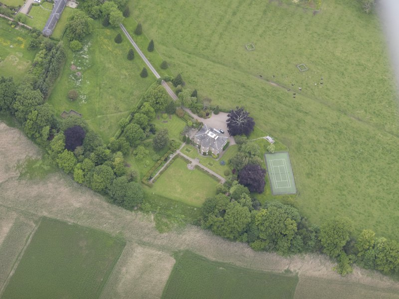 Oblique aerial view of Seaside House, taken from the SE.