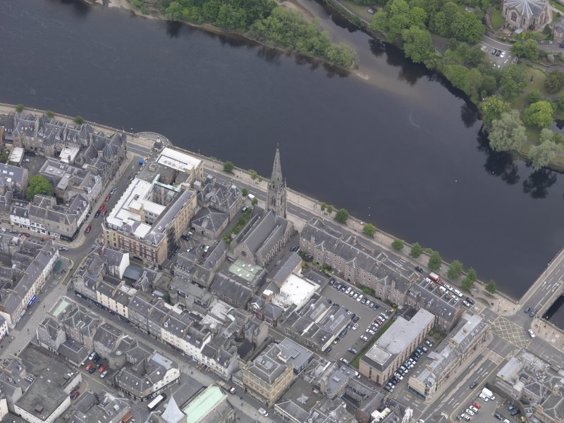 Oblique aerial view of St John's Kirk, taken from the SW.