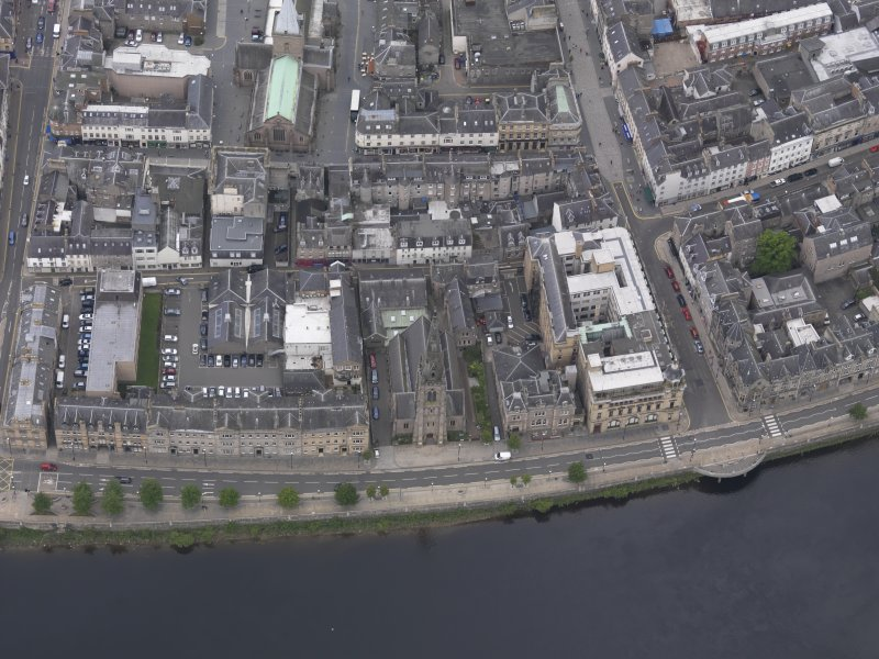 Oblique aerial view of St John's Kirk, taken from the E.